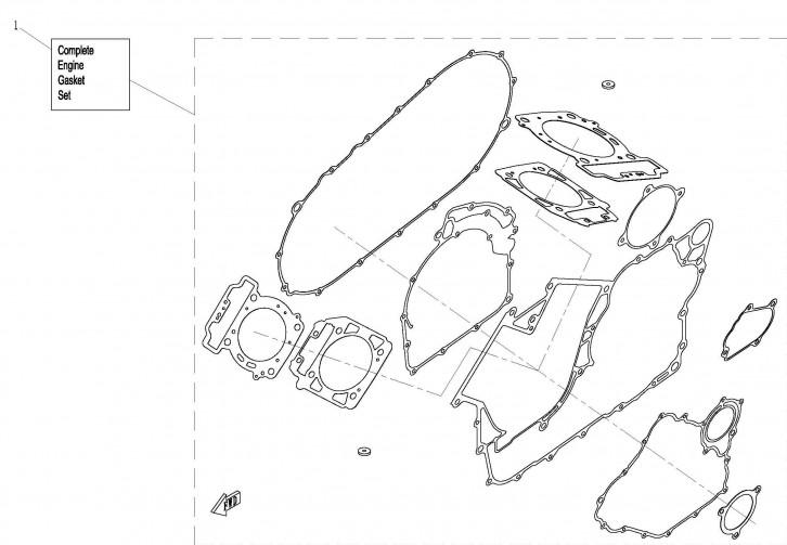 Set Complet Garnituri Motor