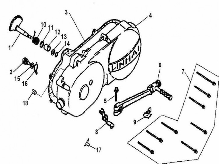 Capac Stanga Brat Mecanism Pornire Motor Pedala
