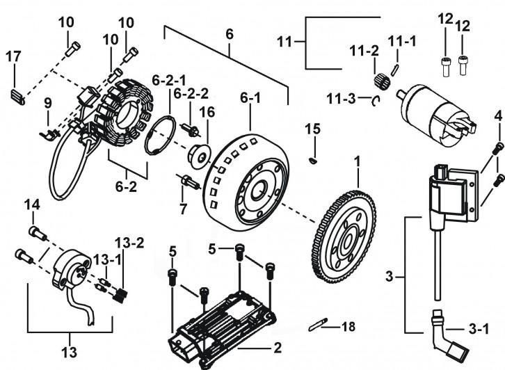 Motor Pornire, Generator, Ecu